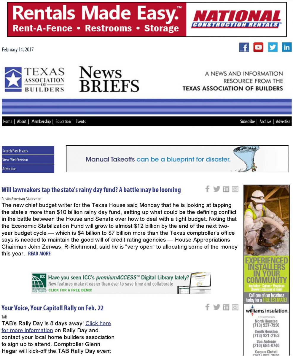 Tab texas builder magazine sample page below malvernweather Image collections